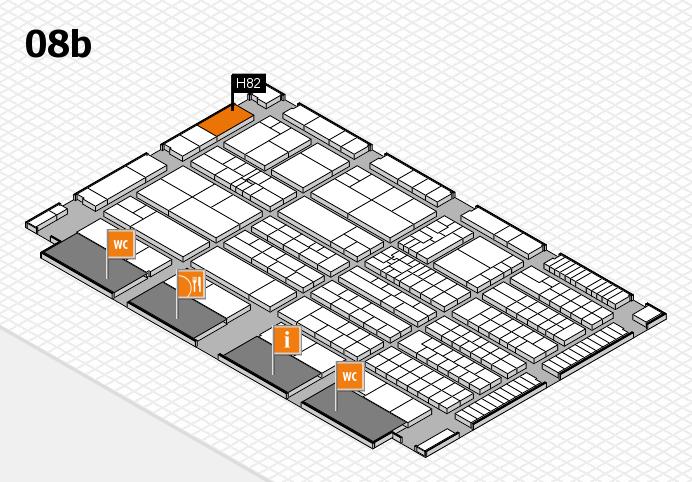 K 2016 Hallenplan (Halle 8b): Stand H82