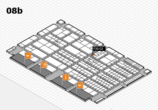 K 2016 hall map (Hall 8b): stand F39-03