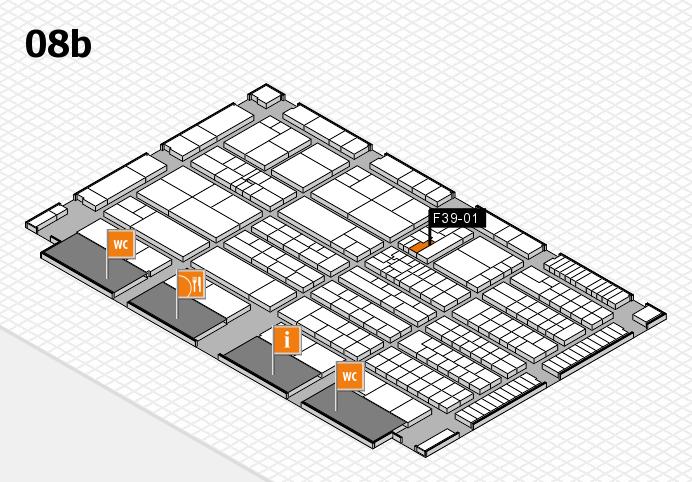 K 2016 hall map (Hall 8b): stand F39-01
