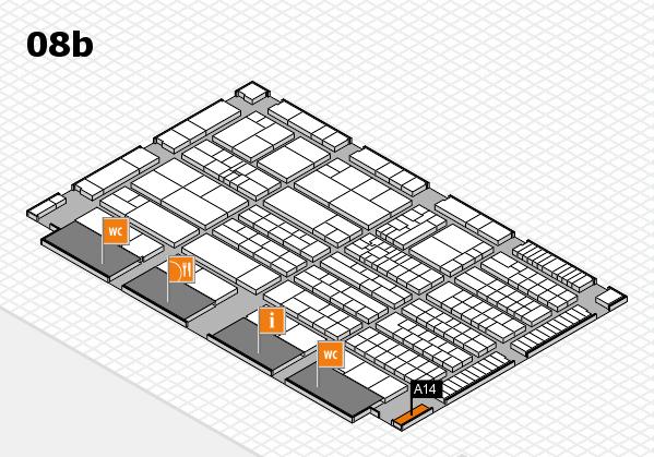 K 2016 Hallenplan (Halle 8b): Stand A14