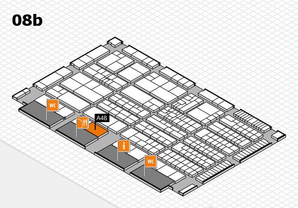 K 2016 hall map (Hall 8b): stand A48