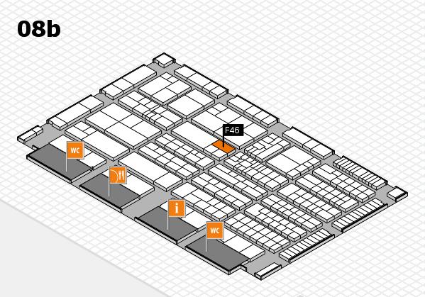 K 2016 hall map (Hall 8b): stand F46