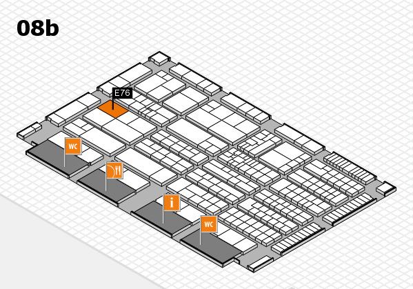 K 2016 hall map (Hall 8b): stand E76