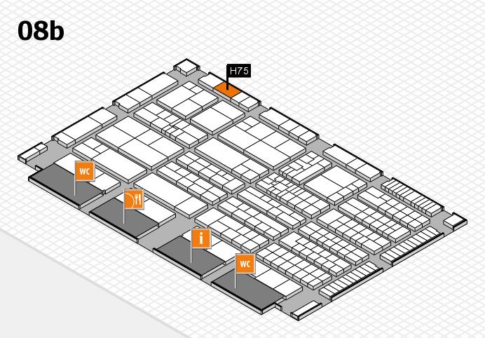 K 2016 Hallenplan (Halle 8b): Stand H75