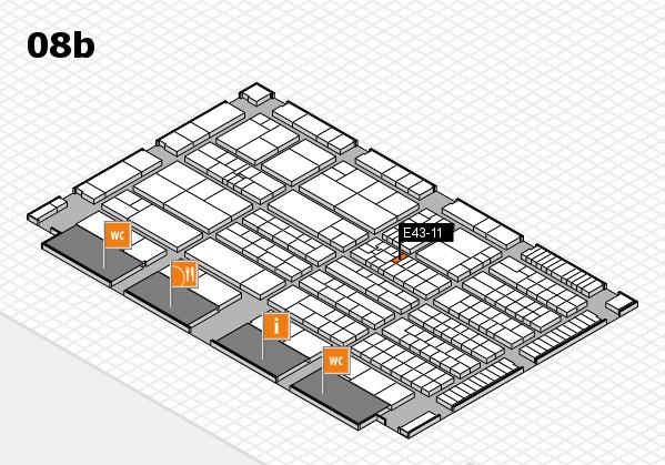 K 2016 hall map (Hall 8b): stand E43-11