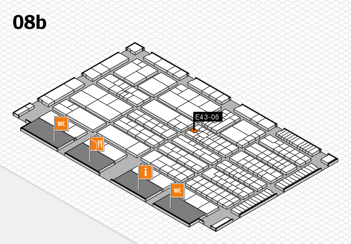 K 2016 hall map (Hall 8b): stand E43-06