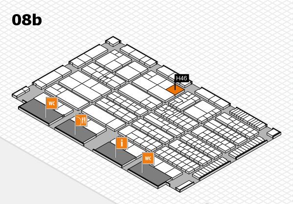 K 2016 hall map (Hall 8b): stand H46