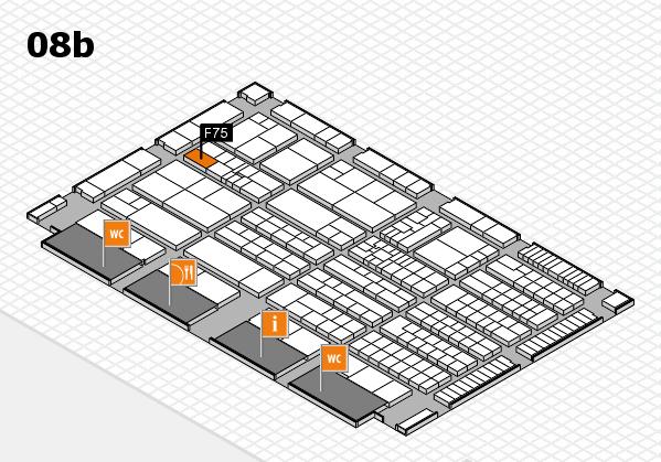 K 2016 hall map (Hall 8b): stand F75