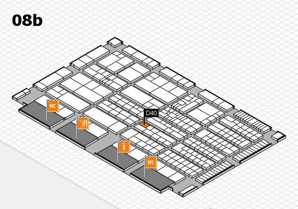 K 2016 hall map (Hall 8b): stand D40
