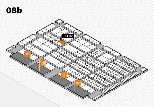 K 2016 hall map (Hall 8b): stand E71-02