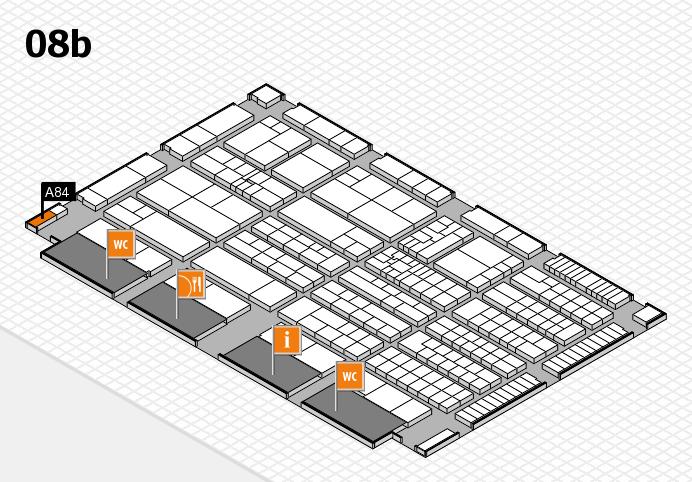 K 2016 hall map (Hall 8b): stand A84