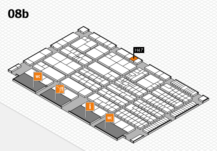 K 2016 hall map (Hall 8b): stand H47