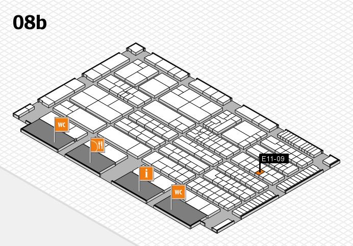 K 2016 hall map (Hall 8b): stand E11-09