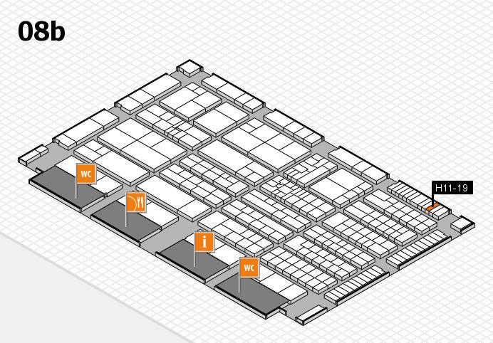K 2016 hall map (Hall 8b): stand H11-19