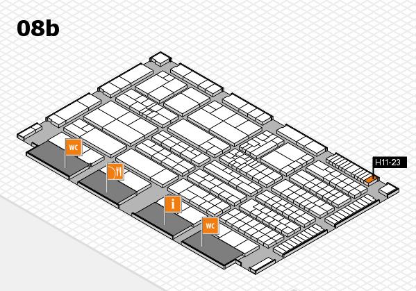 K 2016 hall map (Hall 8b): stand H11-23