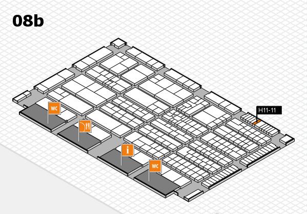 K 2016 hall map (Hall 8b): stand H11-11