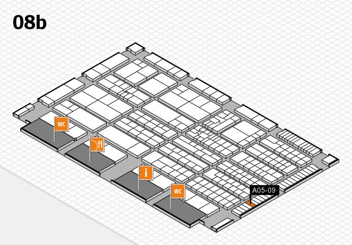 K 2016 hall map (Hall 8b): stand A05-09