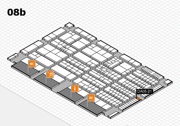 K 2016 hall map (Hall 8b): stand DA05-21