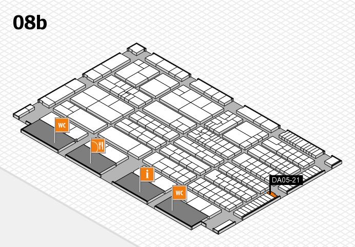 K 2016 Hallenplan (Halle 8b): Stand DA05-21