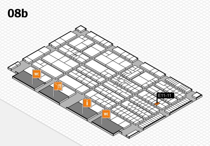 K 2016 hall map (Hall 8b): stand E11-11