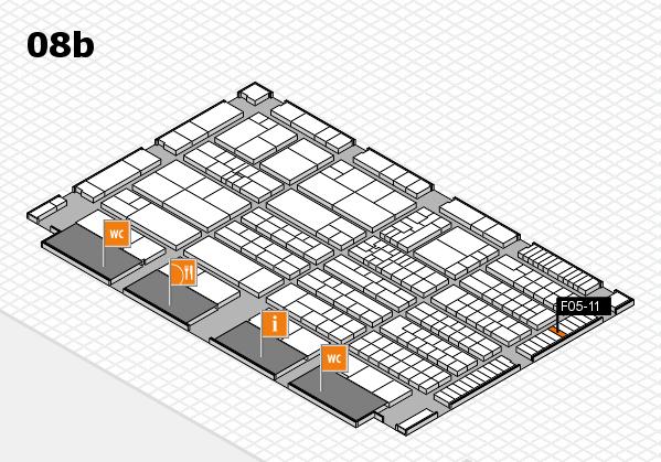 K 2016 hall map (Hall 8b): stand F05-11