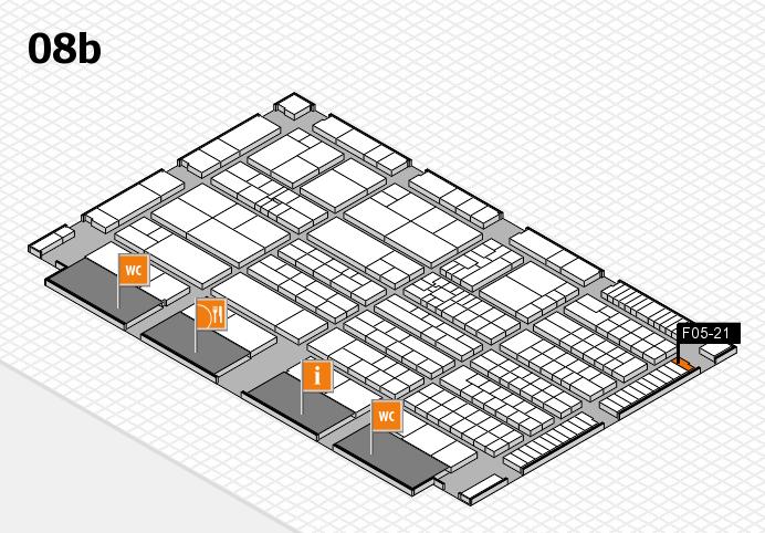 K 2016 hall map (Hall 8b): stand F05-21
