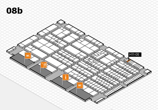 K 2016 hall map (Hall 8b): stand H11-05