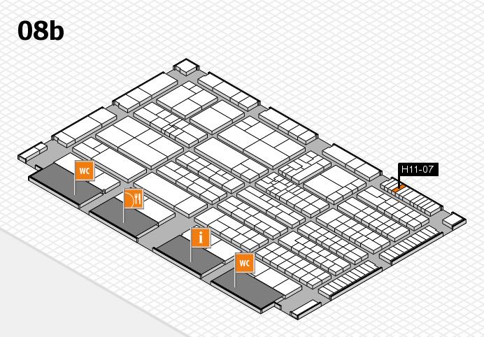 K 2016 hall map (Hall 8b): stand H11-07