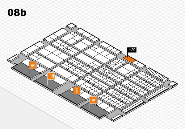 K 2016 Hallenplan (Halle 8b): Stand H29
