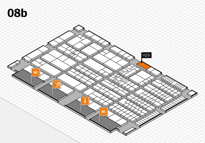 K 2016 hall map (Hall 8b): stand H29
