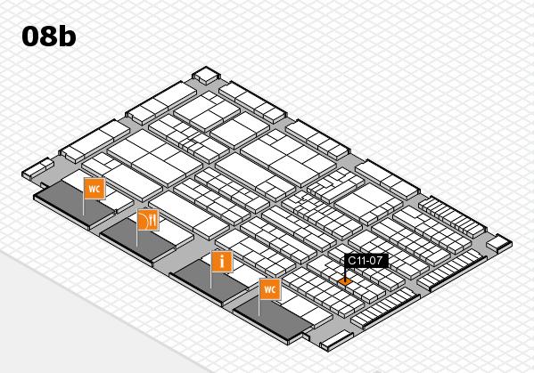 K 2016 hall map (Hall 8b): stand C11-07