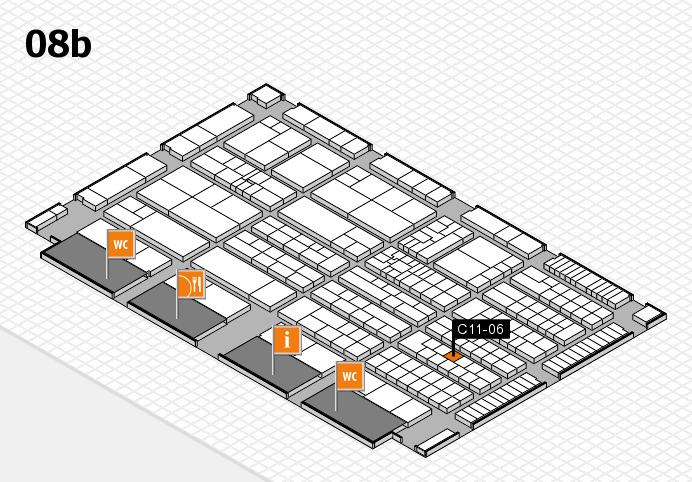 K 2016 hall map (Hall 8b): stand C11-06