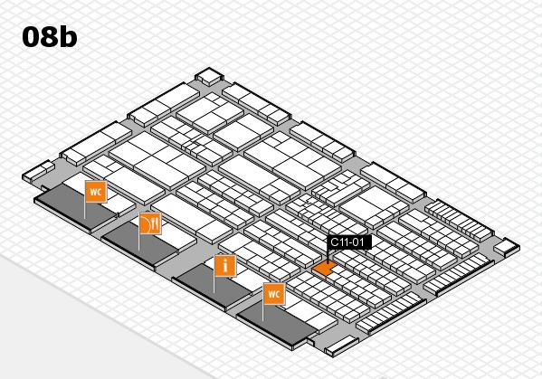K 2016 hall map (Hall 8b): stand C11-01