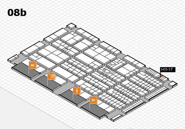 K 2016 hall map (Hall 8b): stand H11-17