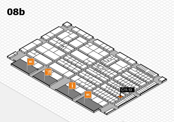 K 2016 hall map (Hall 8b): stand C11-13