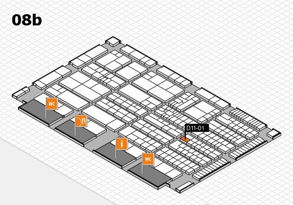 K 2016 hall map (Hall 8b): stand D11-01