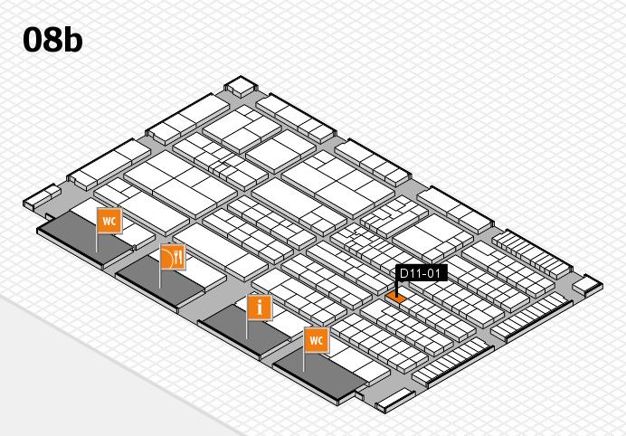 K 2016 Hallenplan (Halle 8b): Stand D11-01