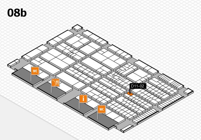 K 2016 hall map (Hall 8b): stand D11-02