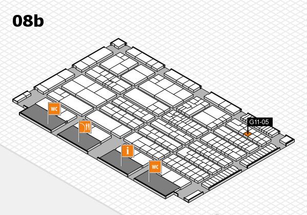 K 2016 hall map (Hall 8b): stand G11-05