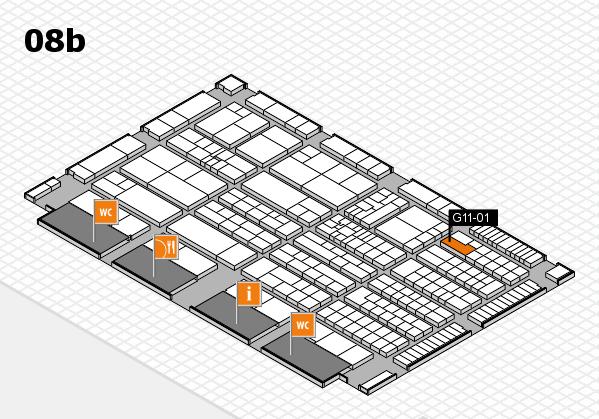 K 2016 hall map (Hall 8b): stand G11-01