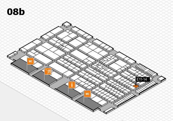 K 2016 hall map (Hall 8b): stand E11-14