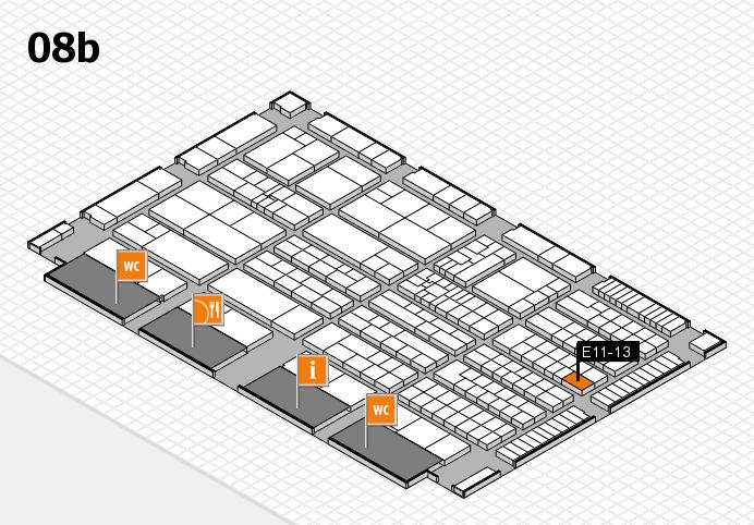 K 2016 hall map (Hall 8b): stand E11-13