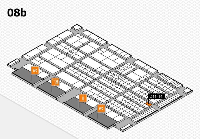 K 2016 hall map (Hall 8b): stand D11-14