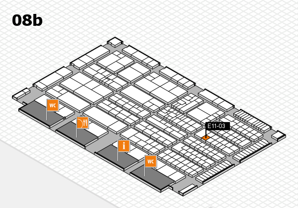 K 2016 hall map (Hall 8b): stand E11-03