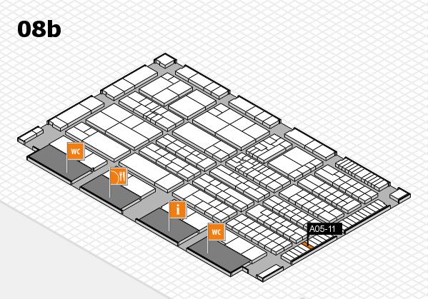 K 2016 hall map (Hall 8b): stand A05-11