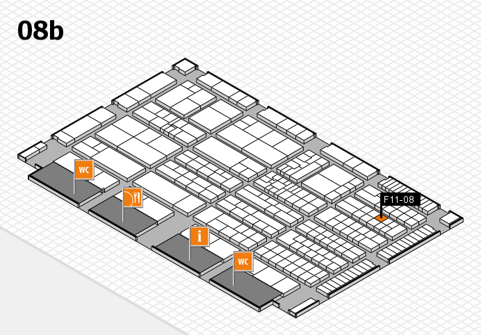 K 2016 hall map (Hall 8b): stand F11-08