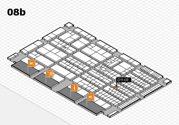 K 2016 Hallenplan (Halle 8b): Stand D11-03