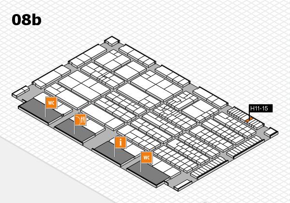 K 2016 hall map (Hall 8b): stand H11-15