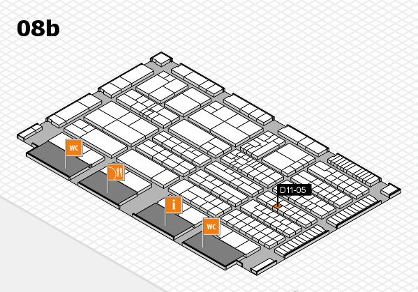 K 2016 hall map (Hall 8b): stand D11-05
