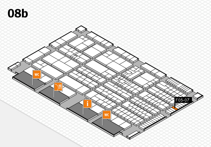 K 2016 hall map (Hall 8b): stand F05-07